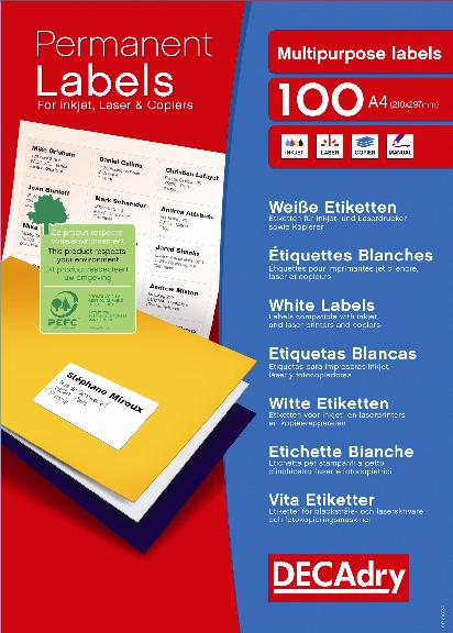 DLW1734 Multipurpose white labels DLW1734 : Decadry - See our full ...
