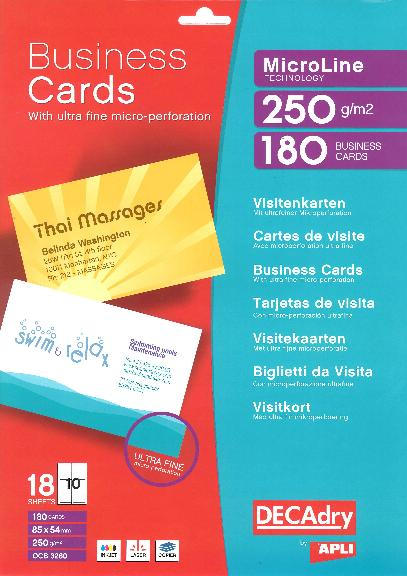 decadry business cards software