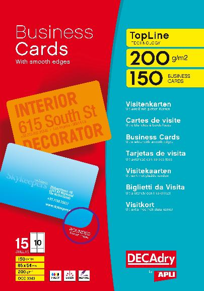 Occ3343 multipurpose business cards topline occ3343 decadry see occ3343 multipurpose business cards topline fbccfo Gallery