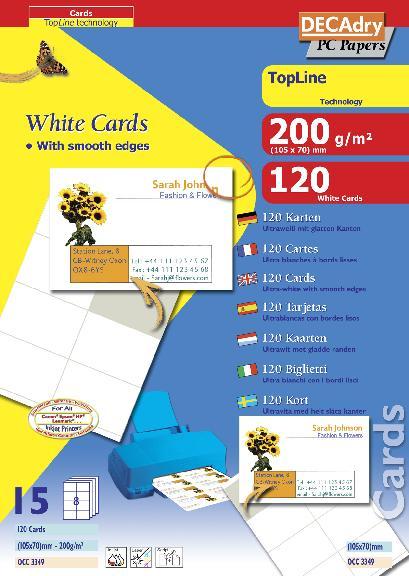 OCC3349 Multipurpose business cards TopLine OCC3349 : Decadry ...
