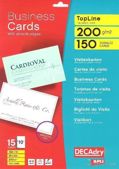 Occ3342 Multipurpose Business Cards Topline See Larger Image