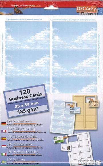 SCB2002 Multipurpose Business Cards MicroLine